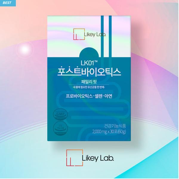 채원몰,[리키랩] LK01 포스트바이오틱스 패밀리핏 유산균 (셀렌/아연/프로바이오틱스) 2000mg X 30포 (60g)
